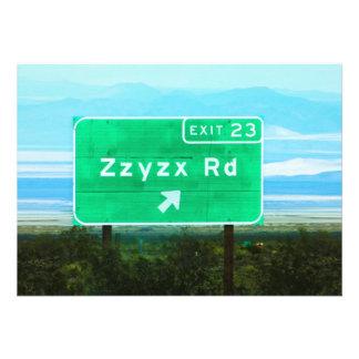 ZZYZX RD INVITACION PERSONAL
