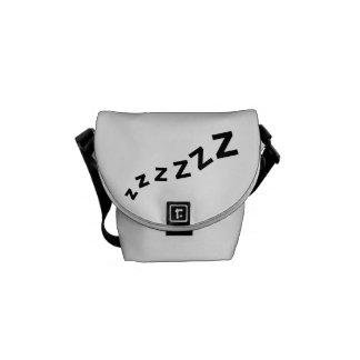 Zzz del ronquido bolsas de mensajería