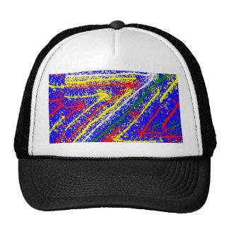 zzz  ZAZZLING Abstract Art : Royal Blue Streaks Trucker Hat