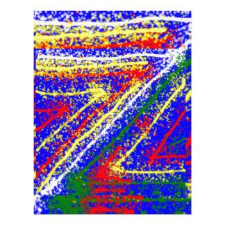 zzz  ZAZZLING Abstract Art : Royal Blue Streaks Letterhead