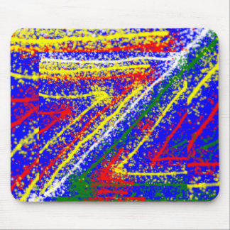 zzz  ZAZZLING Abstract Art : Royal Blue Streaks Mouse Pad