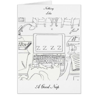 ZZZZ At The Keyboard Greeting Card